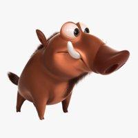 3D fantasy boar