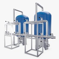 3D sand filters activated carbon