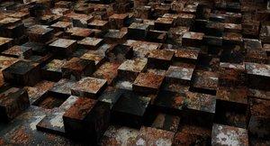 3D geometric cubes model