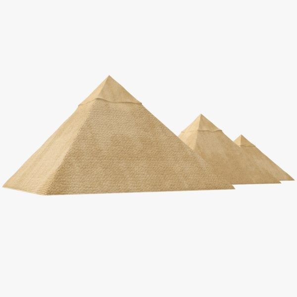 real great pyramids egypt 3D