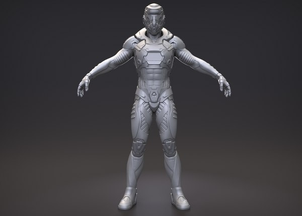 character exo suit model
