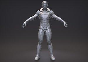 character exo suit model