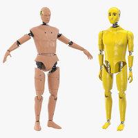 3D model crash test dummies 3