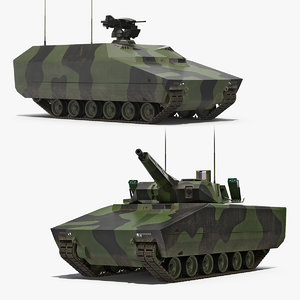 kf41 lynx tank rigged 3D model