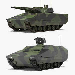 3D lynx kf41 tank model