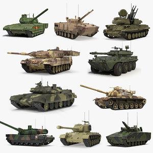 tanks 2 rigged 3D model