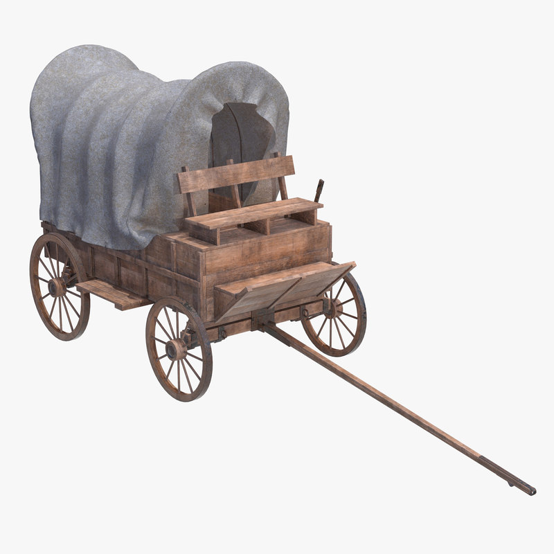 3D wagon covered wooden