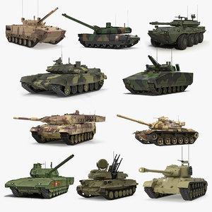 2 tanks 3D model