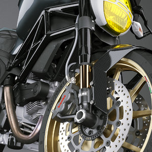 materials motorcycle 3D model