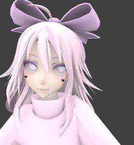 3D model cute girl beatrice