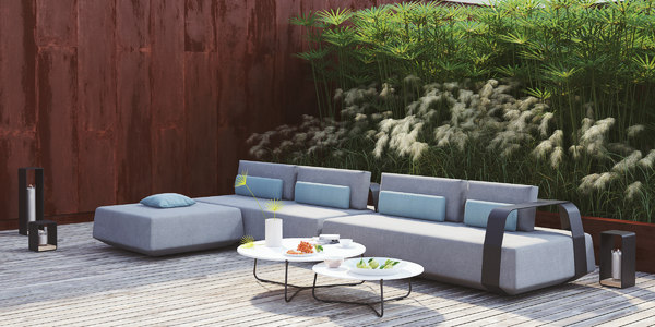manutti sofa outdoor scene 3D