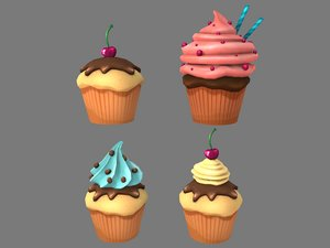 cup cake cupcakes 3D model