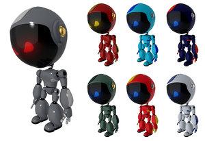 rigged 7 robot model