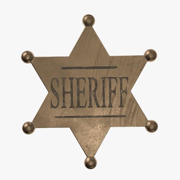3D sheriff badge sherif model