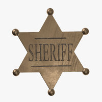 3D sheriff badge sherif model