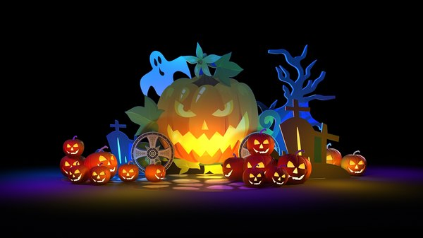 3D model halloween art display