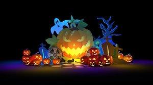 3D model halloween art display