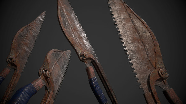 3D dagger knife model