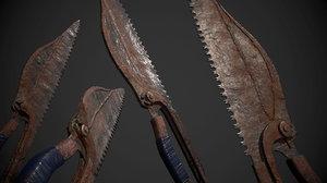 3D dagger knife model