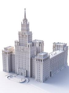 soviet building stalinist 3D