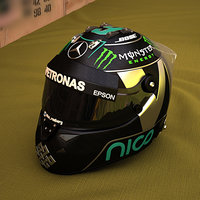 3D f1 helmet f