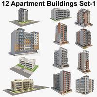 12 Apartment Buildings Set_1