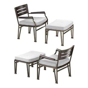 chair pouf cernobbio armchairs 3D