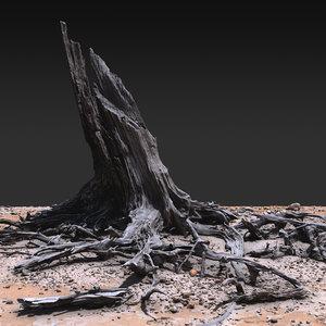 3D desert tree 01 model