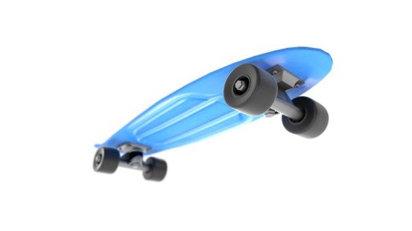 3D model plastic skateboard retro