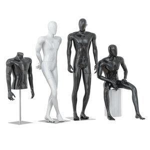 3D male mannequins