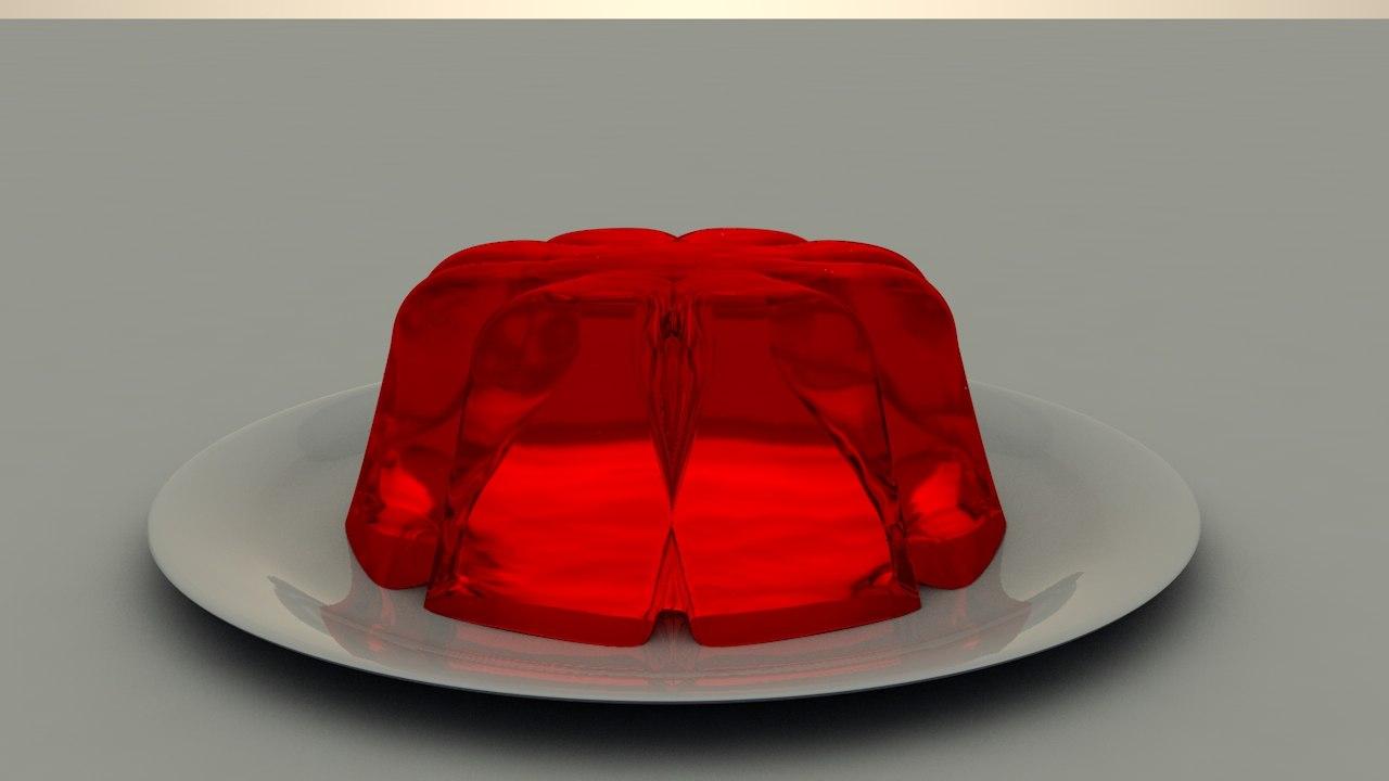 3D jelly food model