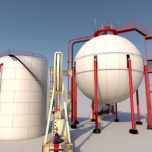3D oil field model