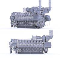 3D 16v4000 mtu marine engine