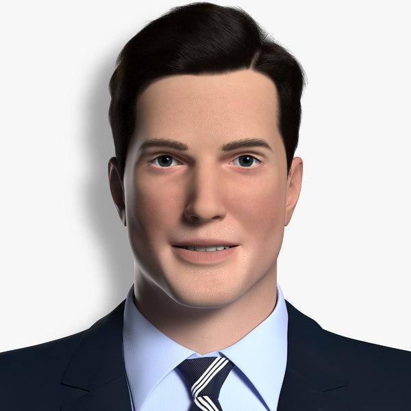 man rigged 3D model