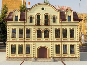 3D design facade house model