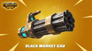 gatling gun - 3D
