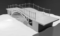 3D bridge footbridge structures
