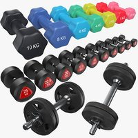 dumbbells weight 3D model