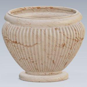 urn marble concrete 3D model