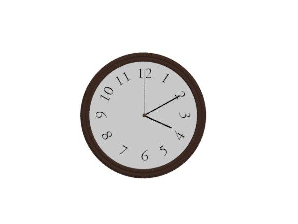 3D wall clock room