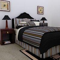 3dsmax bed lamps frame