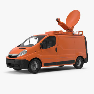 3D mobile tv station van model