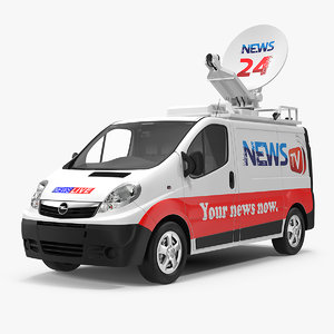 opel tv news van 3D model