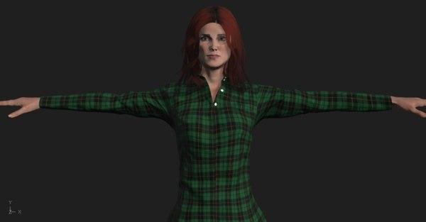 3D fullbody woman scan model