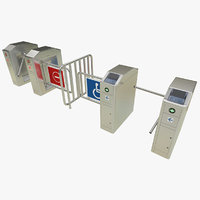 3D model turnstile tourniquet