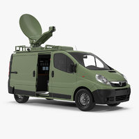 news van rigged 3D model