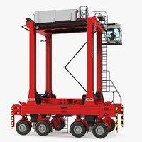 3D kalmar hybrid straddle carrier model