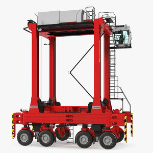 3D kalmar hybrid straddle carrier model