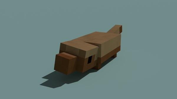 3D model minecraft pangolin animations
