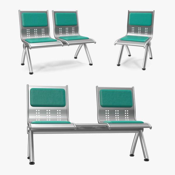 metal waiting chairs model